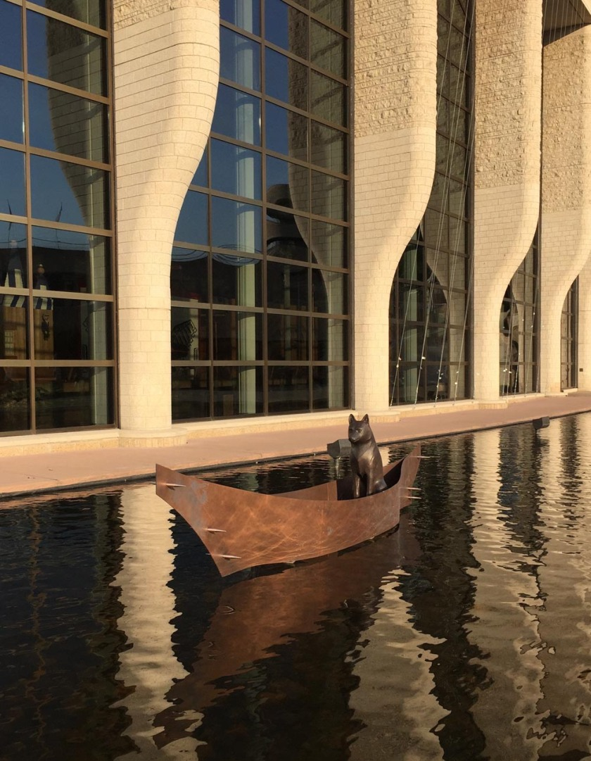 Last stop - Museum of History, Namaxsala (To Travel in a Boat Together) by sculptor Anne Barkhouse