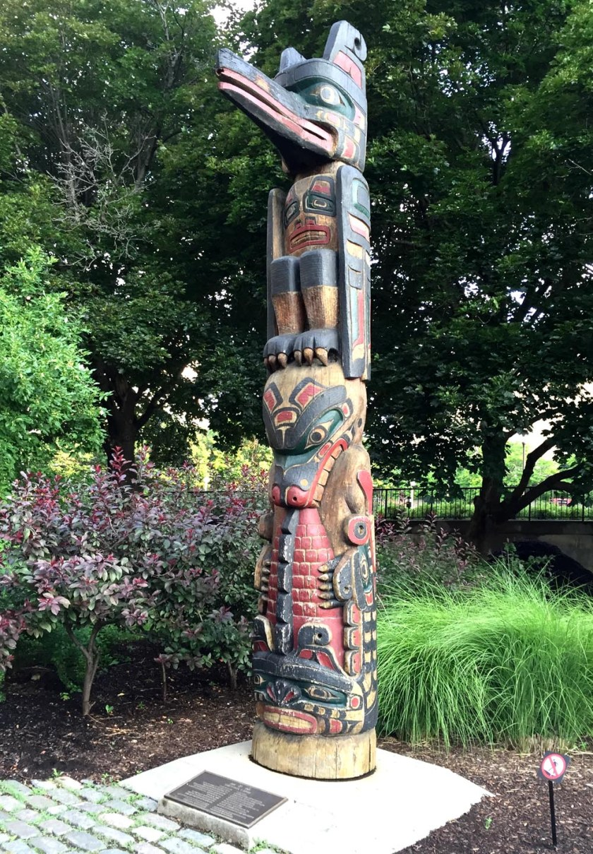First stop - Totem sculpted by Henry Hunt, Confederation Park