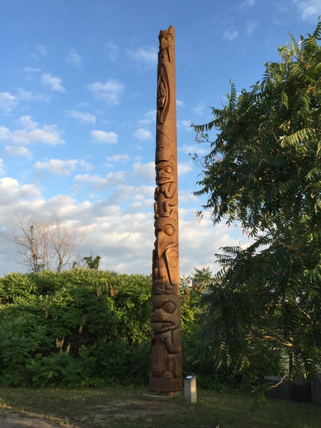 Start - Totem Pole sculpted by Walter Harris on Victoria Island