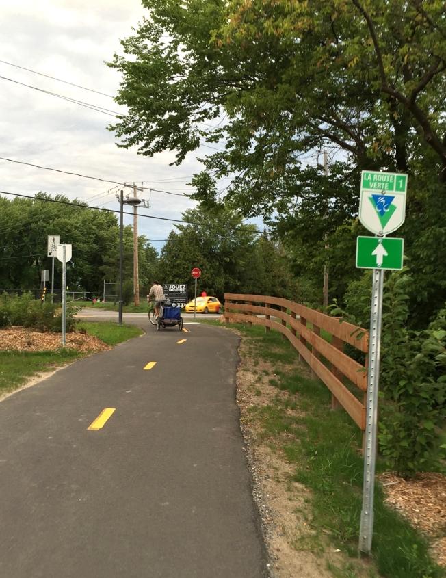 Eastern end of the new bike lane